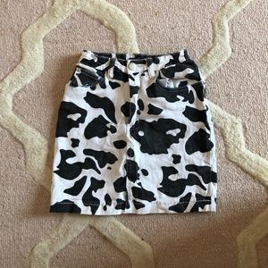 Cow Pattern Skirt